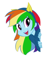 Size: 583x718 | Tagged: safe, artist:silfidum, rainbow dash, equestria girls, cat ears, simple background, solo, transparent background