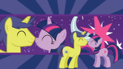 Size: 1920x1080 | Tagged: safe, artist:neodarkwing, comet tail, twilight sparkle, cometlight, cute, cutie mark, female, male, shipping, straight, sweet dreams fuel