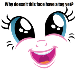Size: 810x759 | Tagged: brilliant face, faic, pinkie pie, question, safe