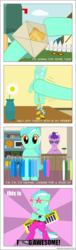Size: 1098x3598 | Tagged: artist:negasun, background pony, basketball, bits, boombox, censored, clothes, comic, crossover, earth pony, female, gala ticket, keyboard, lyra heartstrings, lyra plushie, macklemore & ryan lewis, mailbox, mare, musical instrument, oc, pants, plothole plush lyra, pony, safe, self plushidox, skateboard, song reference, sports, star glasses, swag, thrift shop, unicorn, unnamed oc