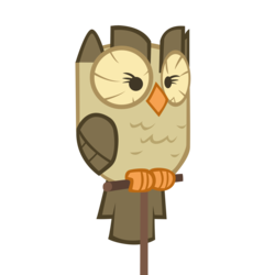 Size: 4000x4000   Tagged: safe, artist:blackm3sh, owlowiscious, bird, owl, male, perch, simple background, solo, transparent background, vector
