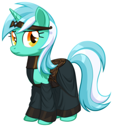 Size: 706x800 | Tagged: safe, artist:endlessnostalgia, lyra heartstrings, pony, unicorn, battlemage, clothes, crossover, dragon age, fanfic, fanfic art, female, looking at you, pony age, robe, robes, simple background, solo, standing, transparent background, vector