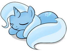 Size: 222x167 | Tagged: artist:theparagon, ask trixie, female, mare, pony, safe, sleeping, solo, trixie, unicorn