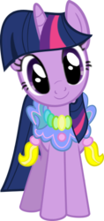 Size: 258x545 | Tagged: safe, artist:bronyxceed, twilight sparkle, unicorn, the ticket master, clothes, cute, dress, female, head tilt, looking at you, saddle, simple background, smiling, solo, tack, transparent background, unicorn twilight, vector
