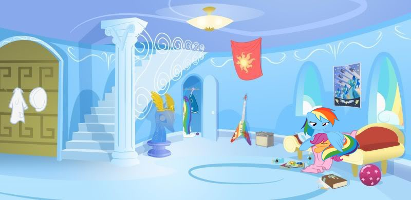 What does the interior of Rainbow Dash's house look like ...