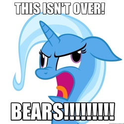 Size: 894x894 | Tagged: safe, artist:navitaserussirus, edit, trixie, pony, unicorn, christopher walken, female, image macro, mare, meme, simple background, solo, the country bears, vector, wheels trixie, white background