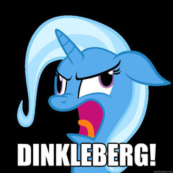 Size: 625x625 | Tagged: safe, trixie, pony, unicorn, bust, derp, dinkleberg, female, floppy ears, image macro, mare, meme, nose wrinkle, open mouth, portrait, simple background, solo, the fairly oddparents, wheels trixie