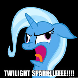 Size: 625x625 | Tagged: safe, trixie, pony, unicorn, derp, female, floppy ears, image macro, mare, meme, solo, wheels trixie