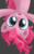 Size: 1280x2048 | Tagged: safe, artist:symbianl, pinkie pie, earth pony, pony, female, gray background, looking at you, mare, simple background, solo, upside down