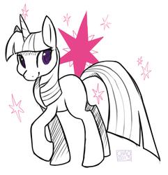 Size: 1303x1352   Tagged: safe, artist:sharmie, twilight sparkle, unicorn, female, mare, solo, unicorn twilight