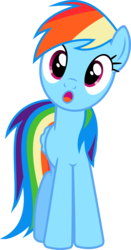 Size: 2088x4000 | Tagged: safe, artist:davidfg4, rainbow dash, :o, female, head tilt, looking at you, simple background, solo, transparent background, vector
