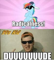 Size: 435x490 | Tagged: '90s kid, atop the fourth wall, human, irl, linkara, photo, rainbow dash, safe