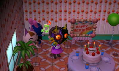 360177 Animal Crossing Balloon Barely Pony Related Birthday Cake Equestria Girls Outfit Majora Pinkie S Mask Merry