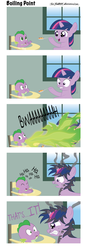 Size: 528x1514 | Tagged: safe, artist:civwub, spike, twilight sparkle, dragon, pony, unicorn, angry, baby, baby dragon, baby spike, burn, burned, burning, burp, clapping, comic, cute, derp, dialogue, dirty, dragonfire, feeding, female, filly, filly twilight sparkle, fire, fire breath, frown, green fire, gritted teeth, highchair, hoof hold, laughing, male, messy mane, puffy cheeks, scared, smiling, smoke, spikabetes, text, twiabetes, unicorn twilight, wide eyes, window, younger
