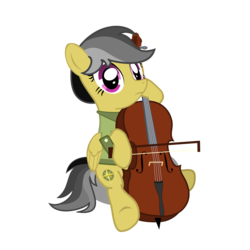 Size: 3000x3000 | Tagged: artist:exudesaffluence, cello, daring do, musical instrument, safe, simple background, solo, transparent background, vector
