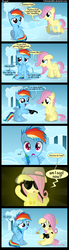Size: 1000x3600 | Tagged: safe, artist:coltsteelstallion, fluttershy, rainbow dash, backwards ballcap, baseball cap, bling, comic, female, filly, filly fluttershy, filly rainbow dash, hat, hug life, necklace, sunglasses, tower of pimps, younger