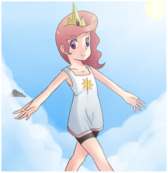 Size: 790x813 | Tagged: artist:sallymon, humanized, princess celestia, safe, solo, young