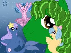 Size: 1070x796 | Tagged: safe, artist:suzie-chan, oc, oc only, hippocampus, kelpie, merpony, monster pony, octopony, original species, sea pony, tentacles, underwater