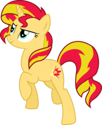 Size: 5304x6500 | Tagged: dead source, safe, artist:theshadowstone, sunset shimmer, pony, absurd resolution, female, simple background, solo, transparent background, vector