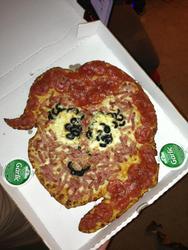 Size: 720x960 | Tagged: safe, pinkie pie, food pony, original species, pizza pony, cursed image, food, irl, meat, pepperoni, pepperoni pizza, photo, pizza, pizza pie