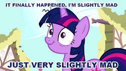Size: 640x360 | Tagged: safe, edit, edited screencap, screencap, twilight sparkle, swarm of the century, female, image macro, insanity, queen (band), solo, song reference, twilight snapple
