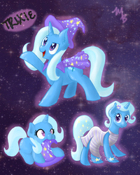 Size: 1024x1277 | Tagged: alternate hairstyle, artist:rastaquouere69, clothes, dress, female, mare, nom, pony, safe, solo, trixie, unicorn