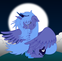 Size: 6100x6000 | Tagged: safe, artist:mactavish1996, princess luna, absurd resolution, crying, female, s1 luna, sad, solo, vector