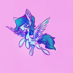Size: 500x500   Tagged: safe, artist:syntactics, oc, oc only, oc:nebula bolt, looking at you, pony a day, solo