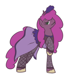 Size: 800x819 | Tagged: safe, artist:inlucidreverie, oc, oc only, oc:flash frame, oc:paintblood, pony, unicorn, bedroom eyes, clothes, crossdressing, dress, male, simple background, solo, transparent background, trap