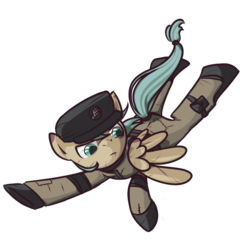 Size: 900x875 | Tagged: safe, artist:inlucidreverie, oc, oc only, pegasus, pony, fallout equestria, clothes, simple background, solo, transparent background