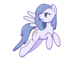 Size: 1200x960 | Tagged: safe, artist:inlucidreverie, oc, oc only, oc:raincloud drops, pegasus, pony, flying, simple background, solo, transparent background
