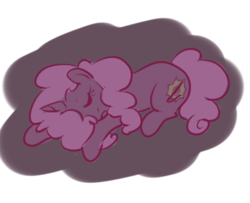 Size: 400x324 | Tagged: artist:inlucidreverie, fallout equestria, male, oc, oc only, oc:paintblood, pony, safe, simple background, sleeping, solo, transparent background, trap, unicorn