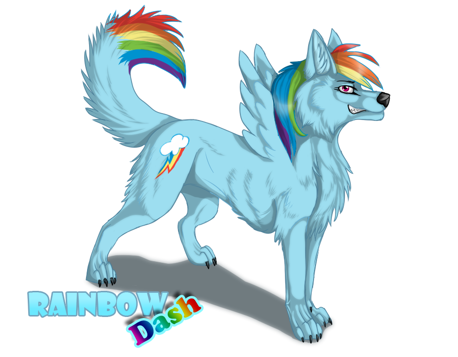 372900 Artistsuzamuri Dog Rainbow Dash Safe Solo Species
