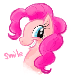 Size: 511x551 | Tagged: artist:zira22_don, pinkie pie, pixiv, safe, smiling, solo