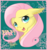 Size: 753x800 | Tagged: safe, artist:unisoleil, fluttershy, pegasus, pony, bust, ear fluff, female, mare, portrait, signature, solo, yay
