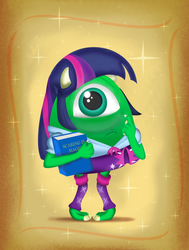 Size: 778x1028 | Tagged: artist:cartuneslover16, crossdressing, crossover, dafuq, equestria girls, mike wazowski, monsters inc., monsters university, safe, twilight sparkle