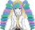 Size: 5592x4949 | Tagged: safe, artist:tixolseyerk, princess celestia, absurd resolution, anime, celestia ludenberg, danganronpa, female, humanized, name pun, namesake, parody, pun, recolor, solo