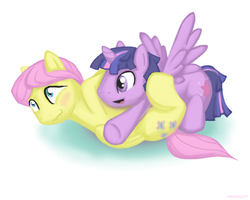 Size: 1500x1200 | Tagged: safe, artist:paarsley, fluttershy, twilight sparkle, alicorn, butterscotch, buttershine, cuddling, dusk shine, gay, male, prince dusk, rule 63, shipping, snuggling, twilight sparkle (alicorn), twishy