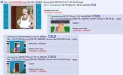 Size: 813x499 | Tagged: safe, screencap, scootaloo, 4chan, 4chan screencap, aqua teen hunger force, carl, carl brutananadilewski