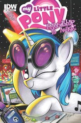 Size: 2063x3131 | Tagged: artist:andypriceart, big macintosh, big scoops, comic cover, cover, crazy horse, disco ball, dj pon-3, earth pony, female, headphones, idw, lyra heartstrings, male, mare, official, one eye closed, pinkie pie, ponified, pony, safe, stallion, sweetcream scoops, the baboons, the beach boys, the beach colts, the galloping stones, the monkees, the rolling stones, turntable, unicorn, vinyl scratch, wink