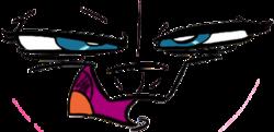 Size: 426x206 | Tagged: safe, artist:mast3rlinkx, nightmare moon, princess luna, season 4, animatic, evil, face, faic, moon, nighmurr mun, nightmare, simple background, solo, story reel, transparent background, vector