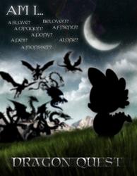 Size: 635x820 | Tagged: dead source, safe, artist:jarredspekter, spike, twilight sparkle, dragon, dragon quest
