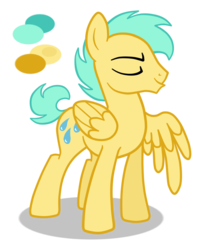 Size: 768x891 | Tagged: artist:wolframclaws, male, moonshower drizzle, rule 63, safe, simple background, solo, stallion, sunshower raindrops, transparent background, vector