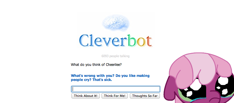 full 382128 cheerilee, cleverbot, crying, meme, safe, text