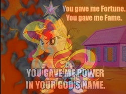 Size: 778x583 | Tagged: safe, artist:hydro-king, edit, buttons (g1), galaxy (g1), posey, sea shimmer, sunset shimmer, sweet stuff, water lily (g1), whizzer, pony, sea pony, twinkle eyed pony, equestria girls, g1, my little pony 'n friends, a sign of things to come, baby sea ponies, big crown thingy, cult of personality, element of magic, equestria girls ponified, fire, living colour, lyrics, paradise estate, photoshop, ponified, song reference, sunset shimmer: greatest in the world, tiara