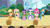 Size: 1280x716 | Tagged: safe, artist:capnpea, edit, edited screencap, screencap, applejack, chancellor puddinghead, clover the clever, commander hurricane, fluttershy, pinkie pie, princess platinum, private pansy, rainbow dash, rarity, smart cookie, twilight sparkle, hearth's warming eve (episode), fimbriae, hearth's warming eve, mane six, wat