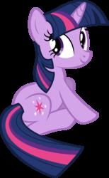 Size: 2684x4355 | Tagged: safe, artist:glitchking123, twilight sparkle, pony, unicorn, lesson zero, .ai available, .svg available, female, looking back, simple background, sitting, solo, transparent background, unicorn twilight, vector