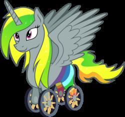 Size: 6000x5625   Tagged: safe, artist:masem, artist:php87, oc, oc only, oc:wheely bopper, alicorn, original species, absurd resolution, alicorn oc, colored, princess, race swap, solo, vector, wheelicorn