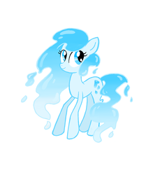 Size: 4608x5040 | Tagged: absurd res, artist:thecheeseburger, earth pony, elemental pony, female, mare, oc, oc only, pony, safe, simple background, solo, water mane, water pony, white background