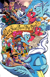 Size: 706x1080   Tagged: safe, artist:andypriceart, artist:angieness, idw, apple bloom, applejack, big macintosh, fleetfoot, fluttershy, granny smith, pinkie pie, princess celestia, rainbow dash, rarity, twilight sparkle, alicorn, bird, earth pony, pegasus, pony, unicorn, zen and the art of gazebo repair, spoiler:comic, spoiler:comic09, apple family, baby, baby pony, big macintosh gets all the mares, catching the bouquet, clothes, colt, cover, cropped, derby planet, eyes closed, family, female, filly, fleetmac, foal, handkerchief, heart, imagine spot, love, male, mare, marriage, marriage proposal, married, newspaper, official, offspring, older, one-piece swimsuit, parent:big macintosh, parent:fleetfoot, parents:fleetmac, ponies riding ponies, riding, shipping, stallion, straight, swimsuit, sword, teary eyes, tissue, tongue out, unicorn twilight, uniform, unnamed pony, weapon, wedding, wonderbolts, wonderbolts uniform